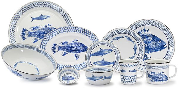Fish Camp Porcelain Enamelware