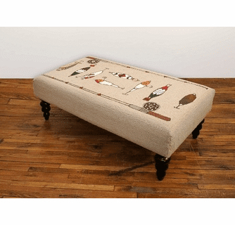 Fishing Rod Hooked Wool Bench