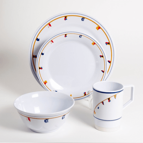 Flags Melamine Dinnerware Set