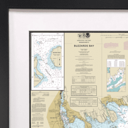 Framed Nautical Charts Ocean Offerings