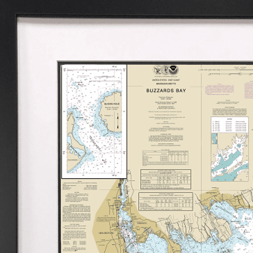 Framed Nautical Charts