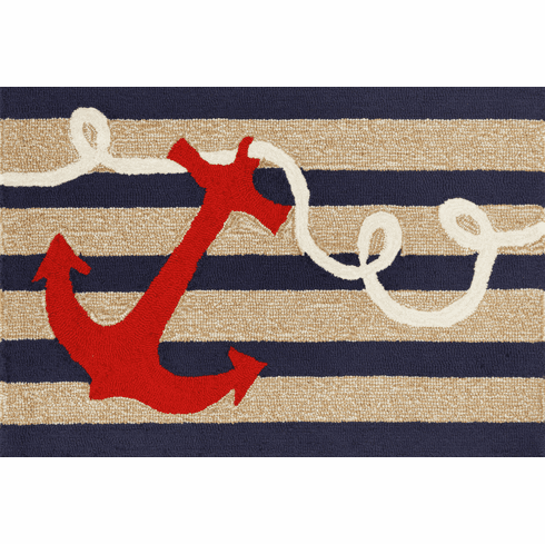 Frontporch Anchor Navy Rug