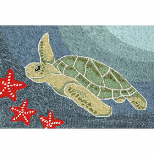 Frontporch Sea Turtle Ocean Rug
