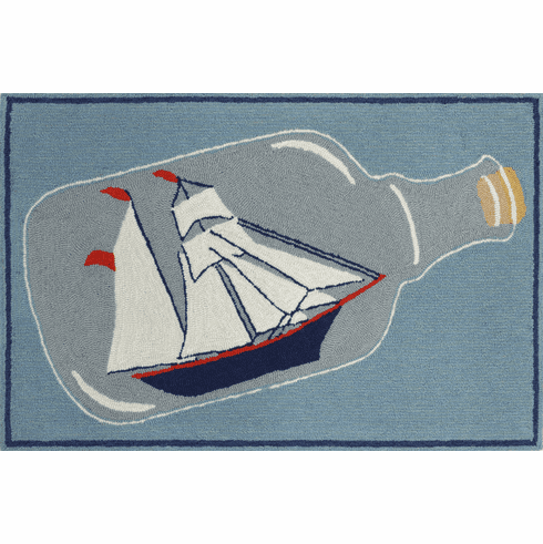 Front Porch Ship In A Bottle Rug