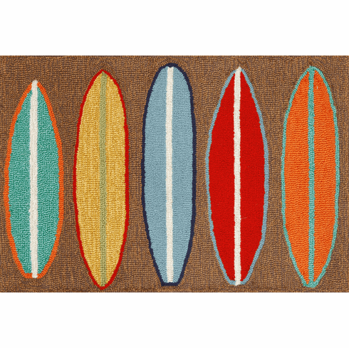 Frontporch Surfboards Brown Rug