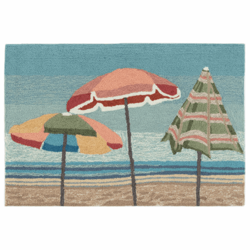 Frontporch Beach Umbrellas Rug