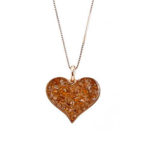 Gold Overlay Heart of Sand Necklace