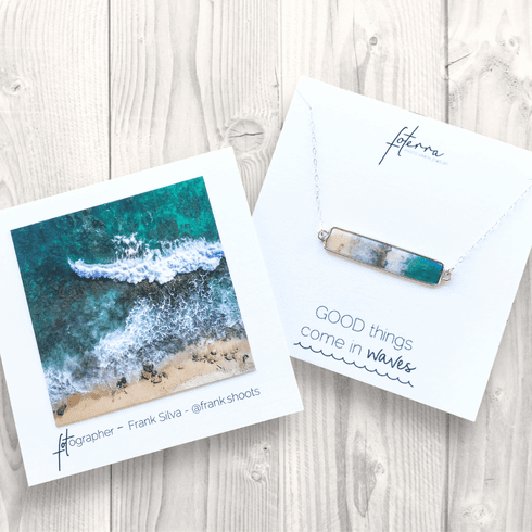 Good Things Come In Waves Bar Necklace