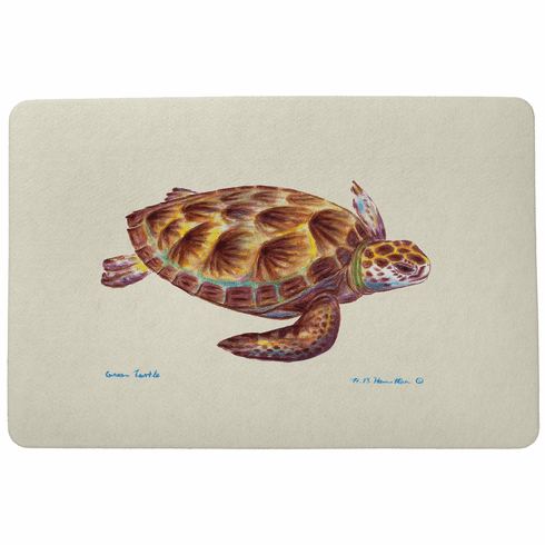 Green Sea Turtle Floor Mat