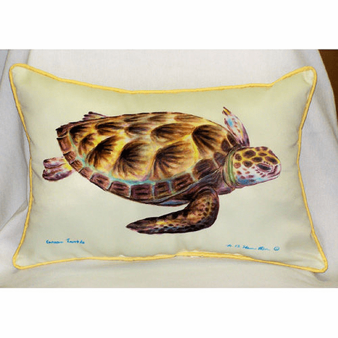 Green Sea Turtle Indoor and Outdoor Pillow