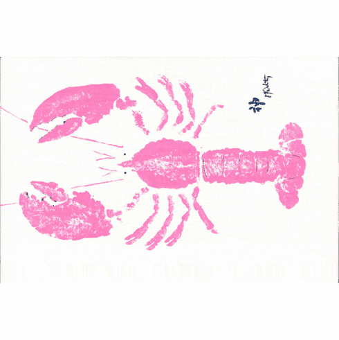 Gyotaku Pink Lobster Placemats