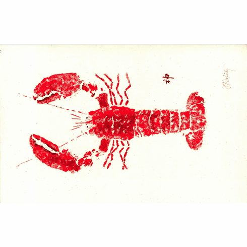 Gyotaku Red Lobster Placemats