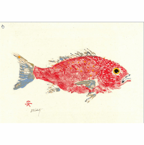 Gyotaku Red Snapper Placemats