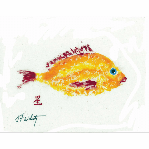 Gyotaku Yellow and Red Fish Placemats