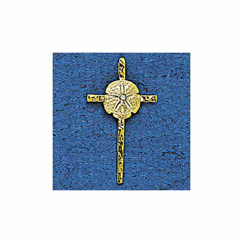 Hammered Cross with Sand Dollar