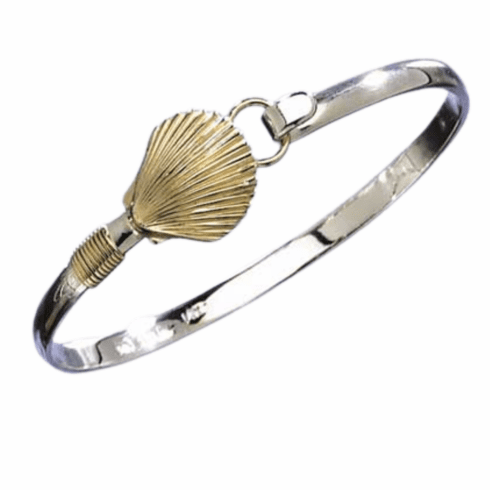 Handmade Scallop Bangle Bracelet