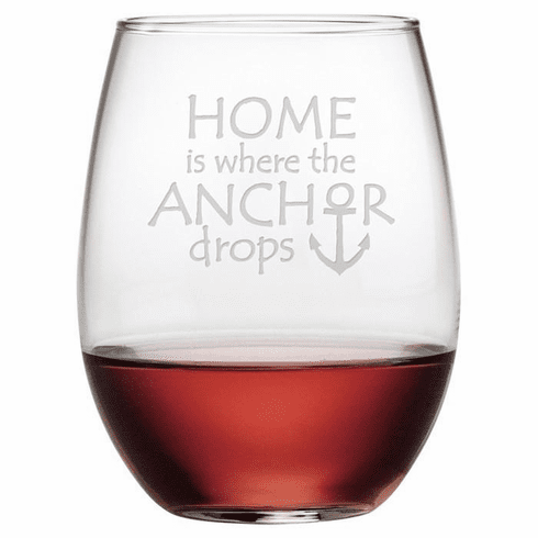 Home is Where the Anchor Drops Stemless Wine