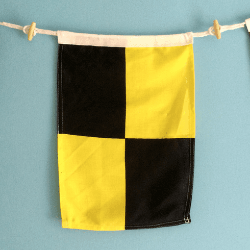 """L"" Nautical Signal Flag"