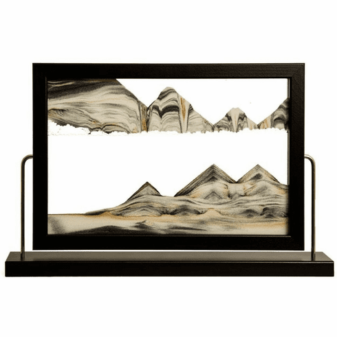 Landscape Black Moving Sand Art