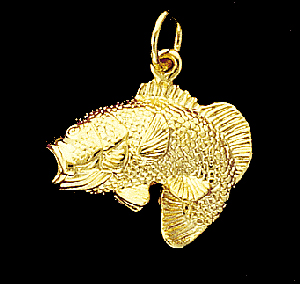 Large Mouth Bass Pendant (small)