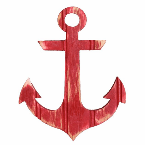 Large Red Anchor