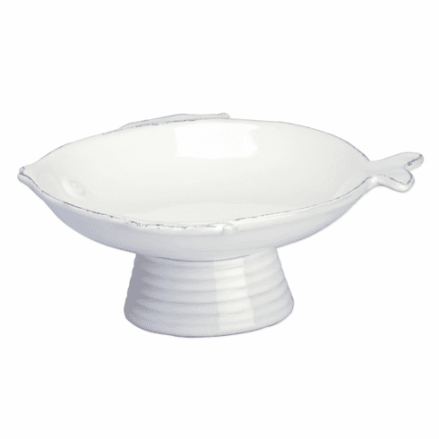 Lastra Fish White Small Footed Compote Bowl