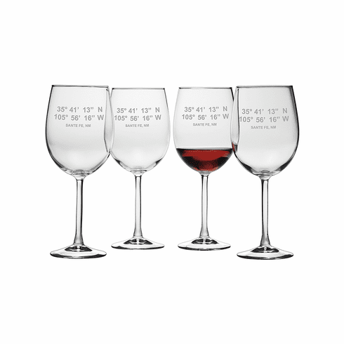Latitude Longitude Wine Glasses