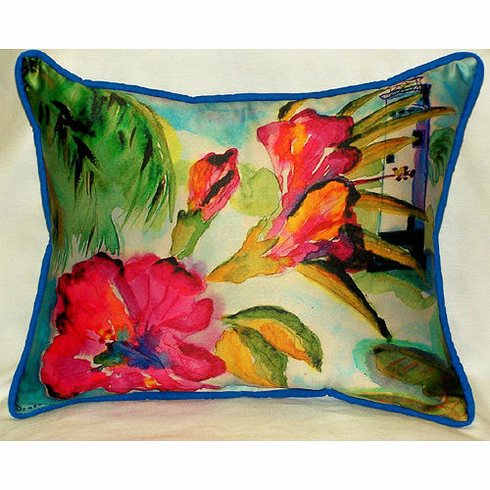 Lighthouse and Florals Indoor and Outdoor Pillow