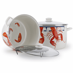 Lobster Enamel Stock Pot