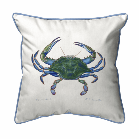 Male Blue Crab Indoor and Outdoor Pillow