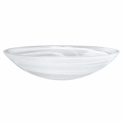 Mariposa White Alabaster Serving Bowl