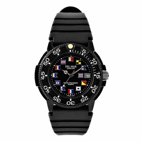 Men's Dive Black Nautical Dial Watch