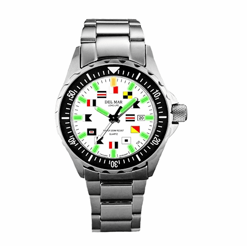 Men's SuperGlo Nautical Flags Watch
