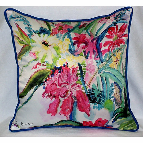 Multi Florals Indoor and Outdoor Pillow