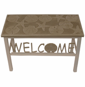 Multi-Shell Sisal Welcome Bench