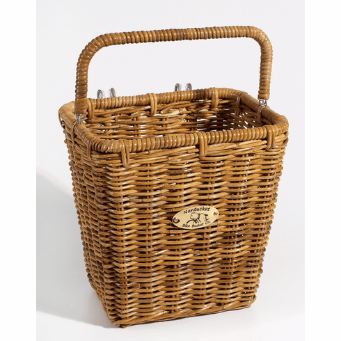 Nantucket Bike Basket Company Cisco Pannier Basket with Hooks