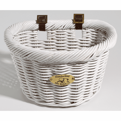 Nantucket Bike Basket Company Cruiser Adult D-Shape, White