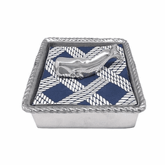 Nantucket Whale Rope Napkin Box
