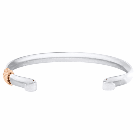 Narrow Convertible Bracelet with Rose Gold Wrap
