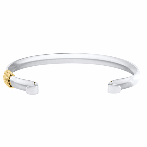 Narrow Convertible Bracelet with Yellow Gold Wrap