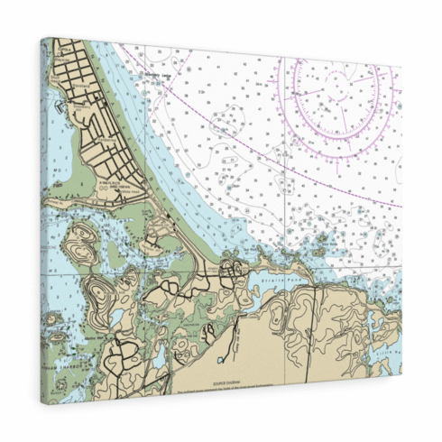 Nautical Chart Canvas Gallery Wrap