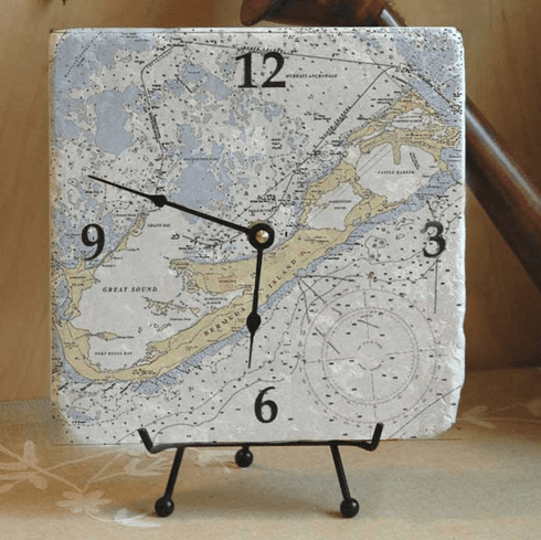 Nautical Chart Clocks