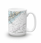 Nautical Chart Mugs - set of 2