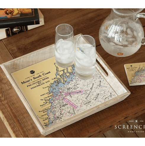 Nautical Chart Tray
