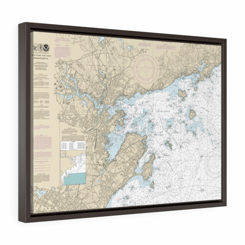 Nautical Chart with Floating Frame