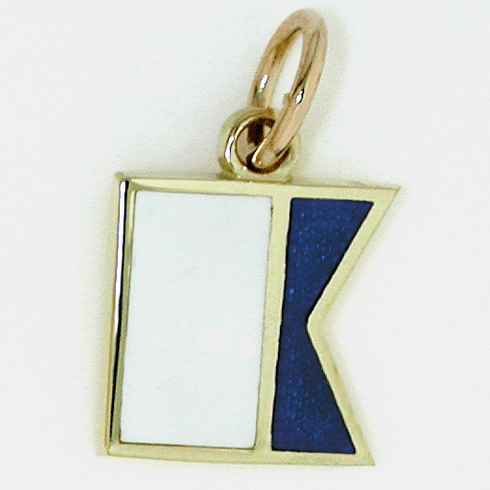 Nautical Initial Signal Flag Charm