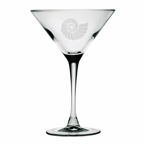 Nautilus Shell Martini Glasses