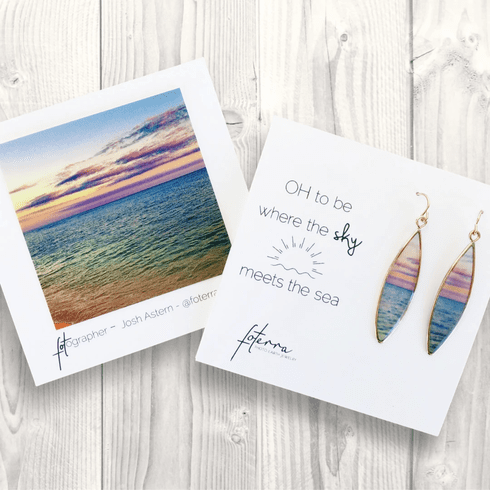 Oh To Be Where The Sky Meets the Sea Earrings
