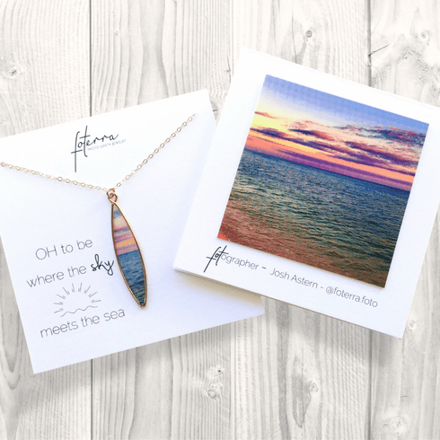 Oh To Be Where The Sky Meets the Sea Necklace