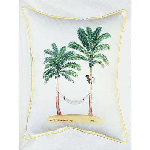 Palm Tree and Monkey Indoor and Outdoor Pillow
